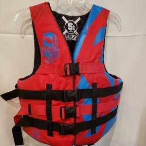 Jet Pilot Wakeboard & Ski Vest / Red and Blue